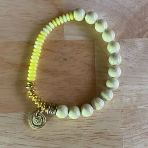 Jewelry - Beaded yellow charm sun bracelet